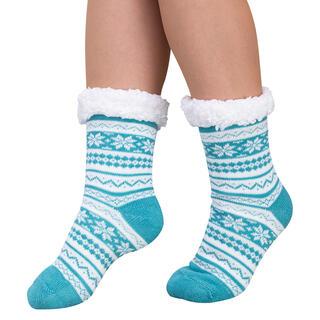 Ponožky na spanie BERIT zelené, veľ. 43 - 45