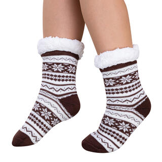 Ponožky na spanie BERIT hnedé, veľ. 35 - 38