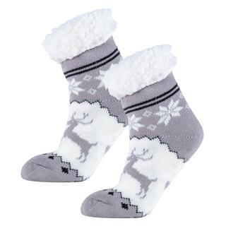 Ponožky na spanie nízke ASTRID šedé, veľ. 35 - 38