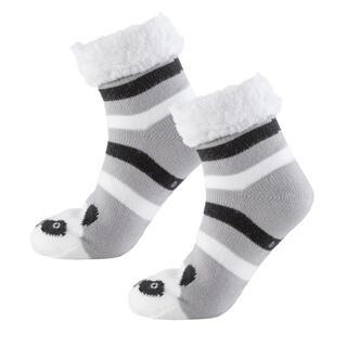 Detské zimné ponožky na spanie PANDA