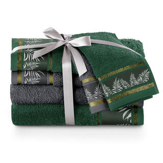 Sada uterákov a osušiek PAVOS smaragdová 6 ks