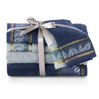Sada uterákov a osušiek PAVOS modrá 6 ks