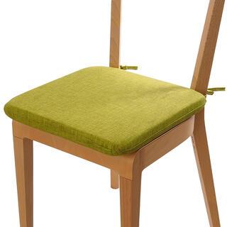 Podsedák s prateľnou obliečkou zelená, sada 4 kusov