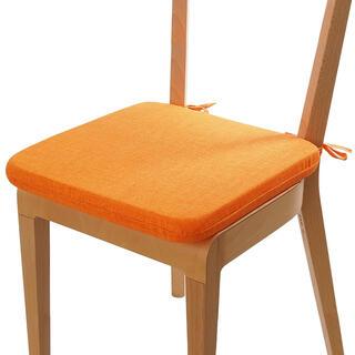 Podsedák s prateľnou obliečkou oranžová, sada 4 kusov