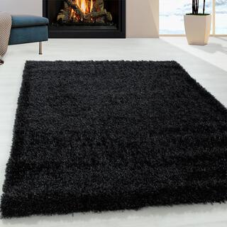 Kusový koberec SHAGGY Brilliant čierny