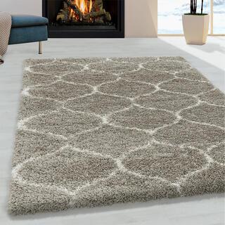 Kusový koberec SHAGGY Salsa béžový