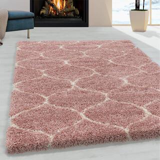 Kusový koberec SHAGGY Salsa ružový