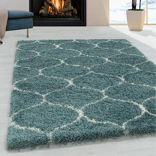 Kusový koberec SHAGGY Salsa aqua