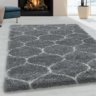 Kusový koberec SHAGGY Salsa šedý