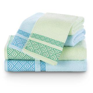 Sada uterákov a osušiek VOLIE modrá a zelená 6 ks