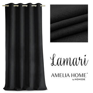 Záves BLACKOUT LAMARI čierny 140 x 250 cm