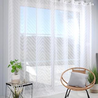Voálová záclona na francúzske okno DESIGN XXL 290 x 260 cm