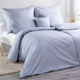 Bavlnené kombinovateľné obliečky BODKA šedá