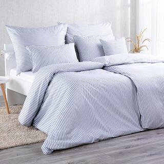 Bavlnené kombinovateľné obliečky PRUHY šedá