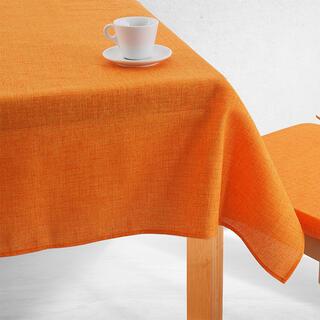 Jednofarebný obrus BESSY oranžový, kruhový pr. 140 cm
