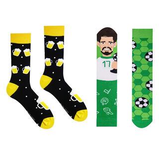 Veselé ponožky PIVKO + FUTBALISTA sada 2 párov