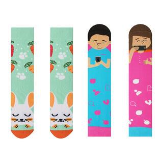 Veselé ponožky INSTAGRAM + ZAJAC sada 2 párov