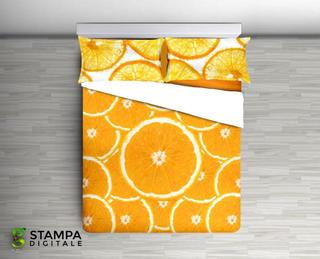 Bavlnené posteľné obliečky Aranc oranžové