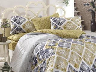Bavlnené posteľné obliečky Riviéra žlté