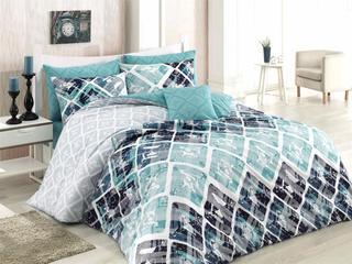 Bavlnené posteľné obliečky Riviera tyrkysové