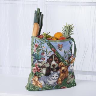 Žakárová taška so psami