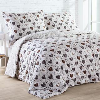 Flanelové posteľné obliečky VYZNANIE LÁSKY