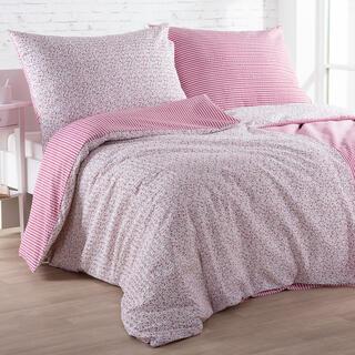 Krepové posteľné obliečky ŽANETA červené, štandardná dĺžka
