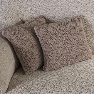 Bielastické poťahy BUKLÉ oriešková, obliečky na vankúšiky 2 ks (40 x 40 cm)