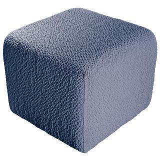 Bielastické poťahy BUKLÉ denimová taburetka (40 x 40 x 40 cm)