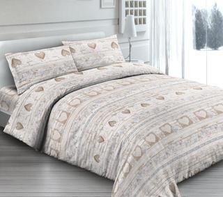 Bavlnené posteľné obliečky Love béžové