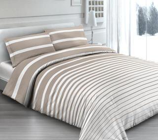 Bavlnené posteľné obliečky Rigat béžové