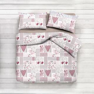 Bavlnené posteľné obliečky Shabby ružové