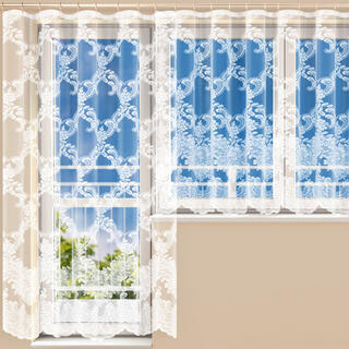 Hotová žakárová záclona HENRIETA - balkónový komplet