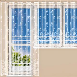 Hotová žakárová záclona AMÁLIE - balkónový komplet