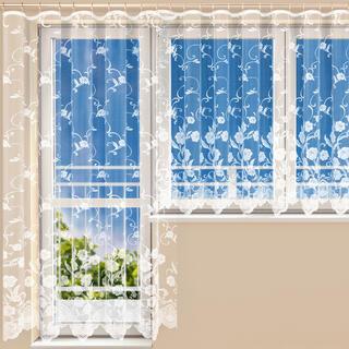 Hotová žakárová záclona DEBORA - balkónový komplet