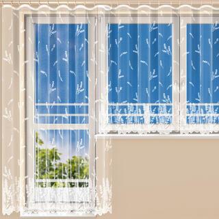 Hotová žakárová záclona MARIANA BIELA balkónový komplet