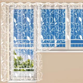 Hotová žakárová záclona TINA - balkónový komplet