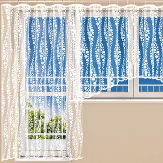 Hotová žakárová záclona HARMONY - balkónový komplet