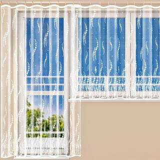 Hotová žakárová záclona NAOMI - balkónový komplet