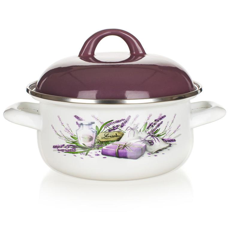 Smaltovaný kastról Lavender, BANQUET 1 l