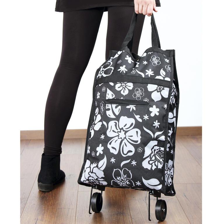 5b98564d04ef1 Nákupná taška na kolieskach Kytky - deDoma