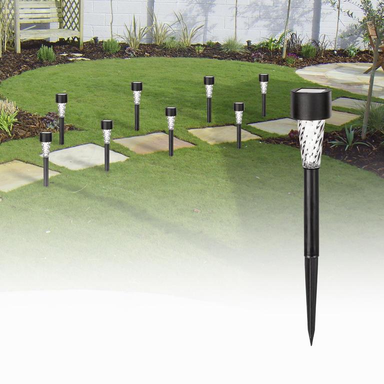 Solárne lampy na záhradu 8 ks