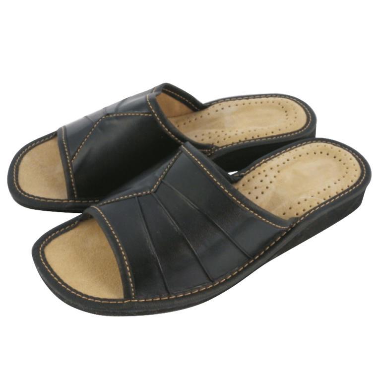 Dámske domáce papuče čierne veľ. 36
