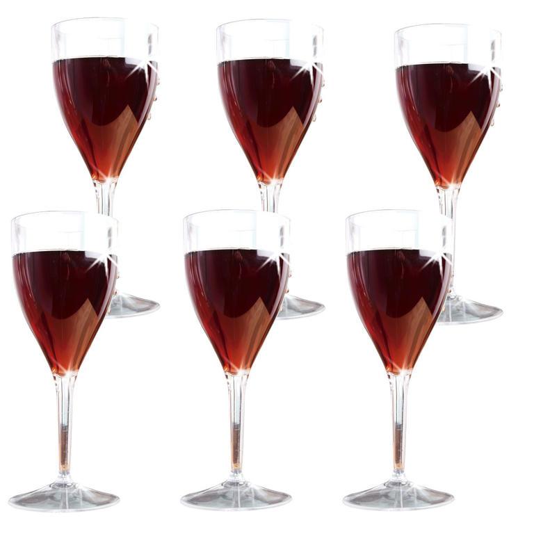Súprava plastových pohárov na víno 6 ks