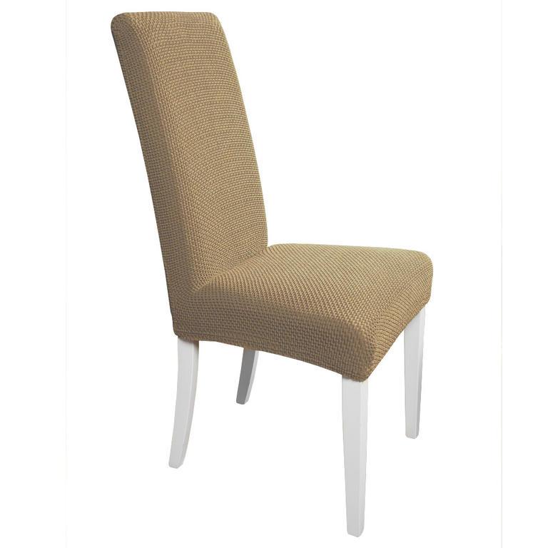 Multielastické poťahy na stoličky s operadlom Carla orieškové 2 ks stoličky s operadlom 2 ks 40 x 40 x 60 cm - 1