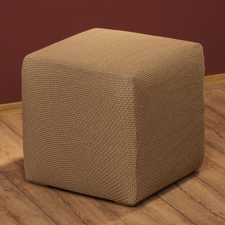 Multielastické poťahy Carla orieškové taburetka (45 x 45 x 45 cm) - 1