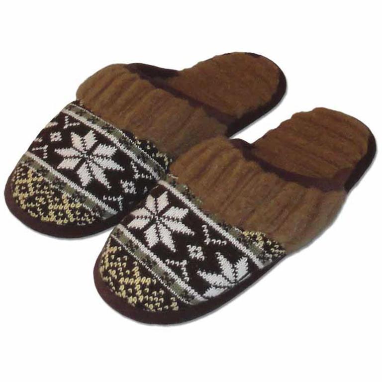 Pánske domáce papuče z ovčej vlny hnedé veľ. 46