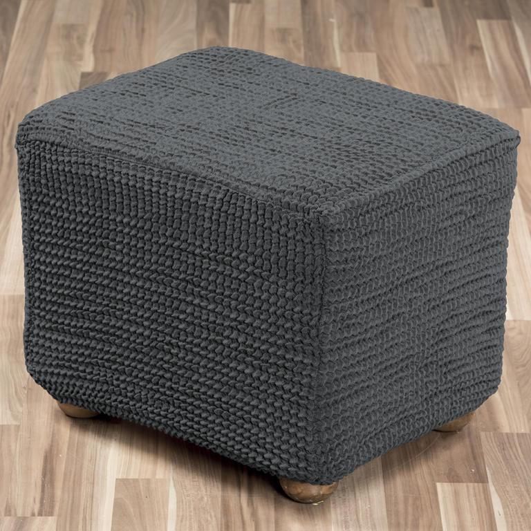 Super strečové poťahy GLAMOUR šedá taburetka (45 x 45 x 45 cm) - 1