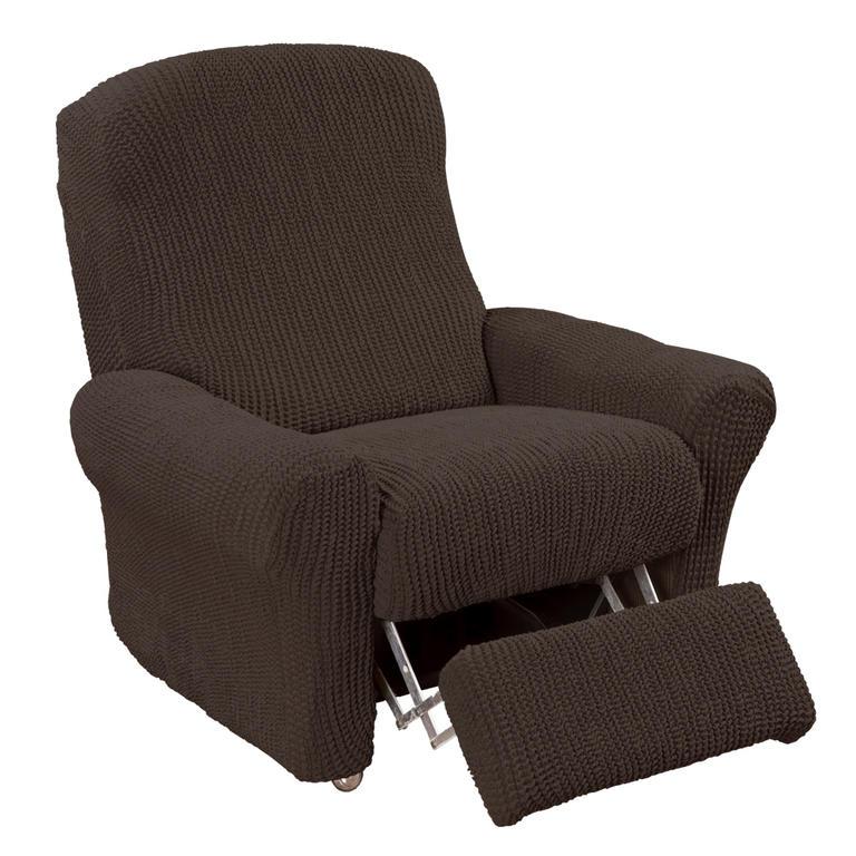 Super strečové poťahy GLAMOUR hnedá relaxačné kreslo (š. 70 - 90 cm)