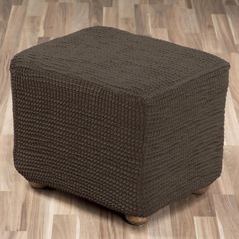 Super strečové poťahy GLAMOUR hnedá taburetka (45 x 45 x 45 cm) - 1
